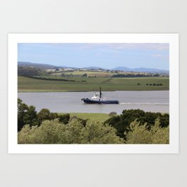 Tug Motoring Down the Tamar* Art Print