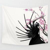 samurai Wall Tapestries featuring samurai by tshirtsz