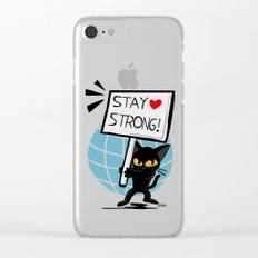 Stay strong Clear iPhone Case