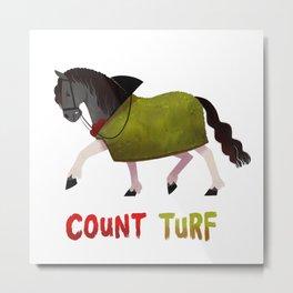 Racehorses - count turf Metal Print