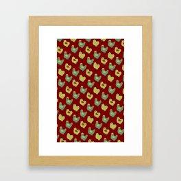 Chicken Case (red) Framed Art Print
