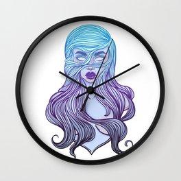 Ghost or vampire Girl Line Art. Spirit halloween. Wall Clock