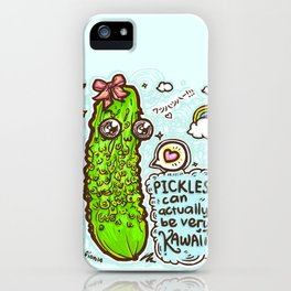 Kawaii Pickles! 2 iPhone Case