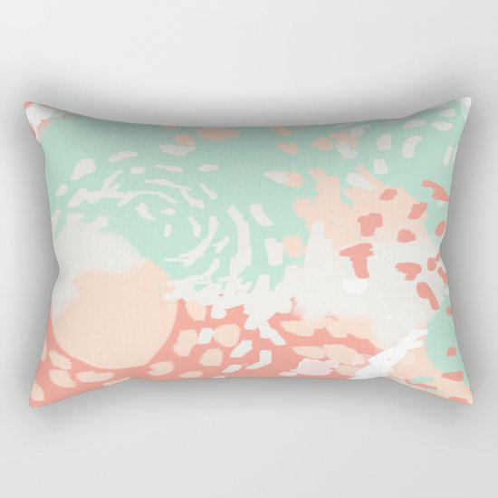Pippa - Abstract minimal painted pastels painting trendy modern color palette Rectangular Pillow