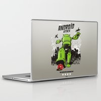 android Laptop & iPad Skins featuring ANDROID ATTACK by Adams Pinto
