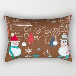 winter fun brown Rectangular Pillow
