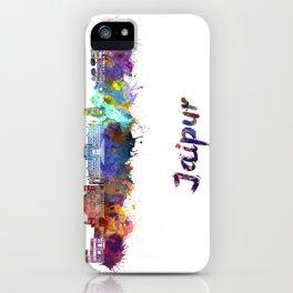Jaipur skyline in watercolor iPhone Case