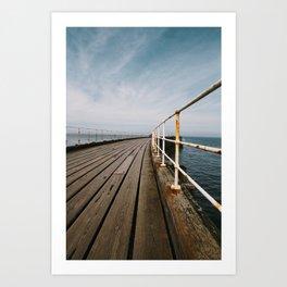 Seaside Walkway Art Print