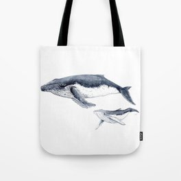 Humpback whale with calf Tote Bag