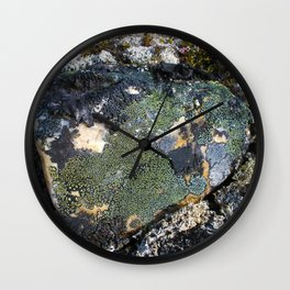 Darkened Rock Wall Clock