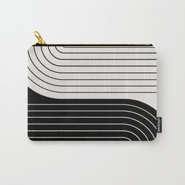 Two Tone Line Curvature VIII  Carry-All Pouch