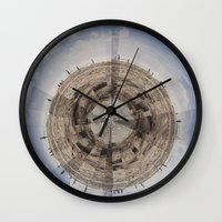 planet of the apes Wall Clocks featuring Planet by Sébastien BOUVIER