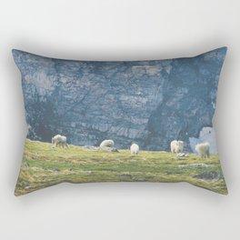 Beartooth Mountain Goats Rectangular Pillow