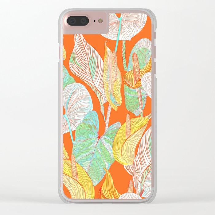 Lush Lily - orange zest Clear iPhone Case