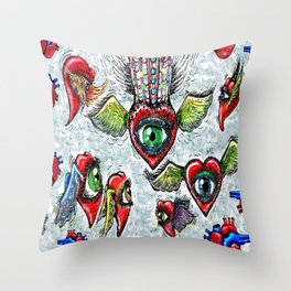 Queen of Hearts Throw Pillow