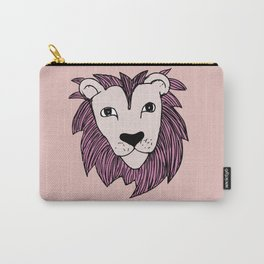 Stay wild you little lion baby nursery pink peach illustration Carry-All Pouch