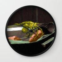 ripley Wall Clocks featuring Alien 3 Ellen Ripley poster by VGPrints