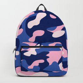 Blue Pink Camouflage Backpack