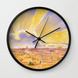 Jerusalem of Gold Wall Clock