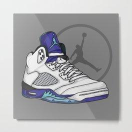 Jordan 5 (Grape) Metal Print