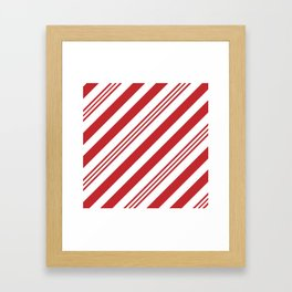 Red Candy Cane Stripes Framed Art Print