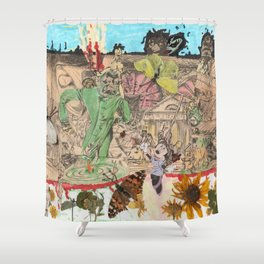 Hotter  than hell. Shower Curtain