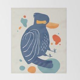 Quirky Laughing Kookaburra Throw Blanket