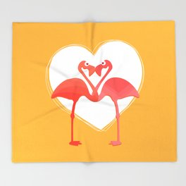 lovebirds - flamingos in love Throw Blanket