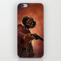 django iPhone & iPod Skins featuring Django by Andrea Mangiri
