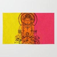 buddha Area & Throw Rugs featuring Buddha by Brianna M. Garcia