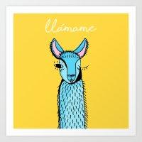 Llamame Art Print