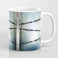 justin timberlake Mugs featuring Barricade by Viviana Gonzalez