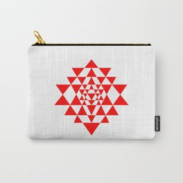 Sri yantra detail, sacred geometry  Carry-All Pouch