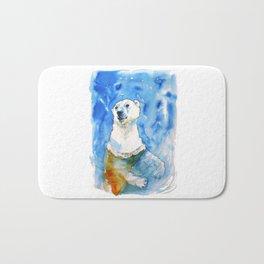 Polar Bear Inside Water Bath Mat