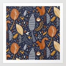 Vive l'automne !  Art Print