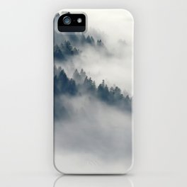 Mountain Fog and Forest Photo iPhone Case