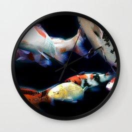 Nishikigoi(Japanese Colored Carp) 01 Wall Clock