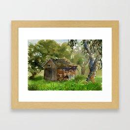 Ardenwood Shack Watercolor Framed Art Print