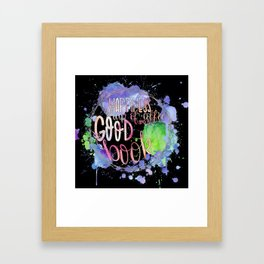 Happiness Is A Book Framed Art Print