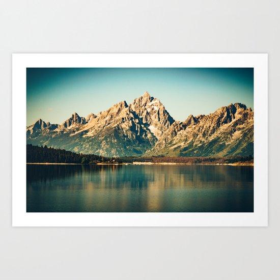 Mountain Lake Escape Art Print