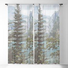 So Serene - Mountain Lake Sheer Curtain
