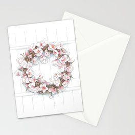 Spring Wreath Stationery Cards