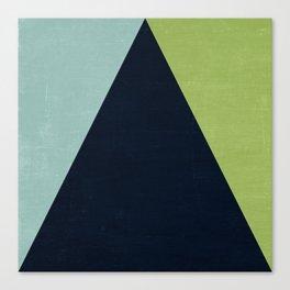 mod triangles - lake Canvas Print