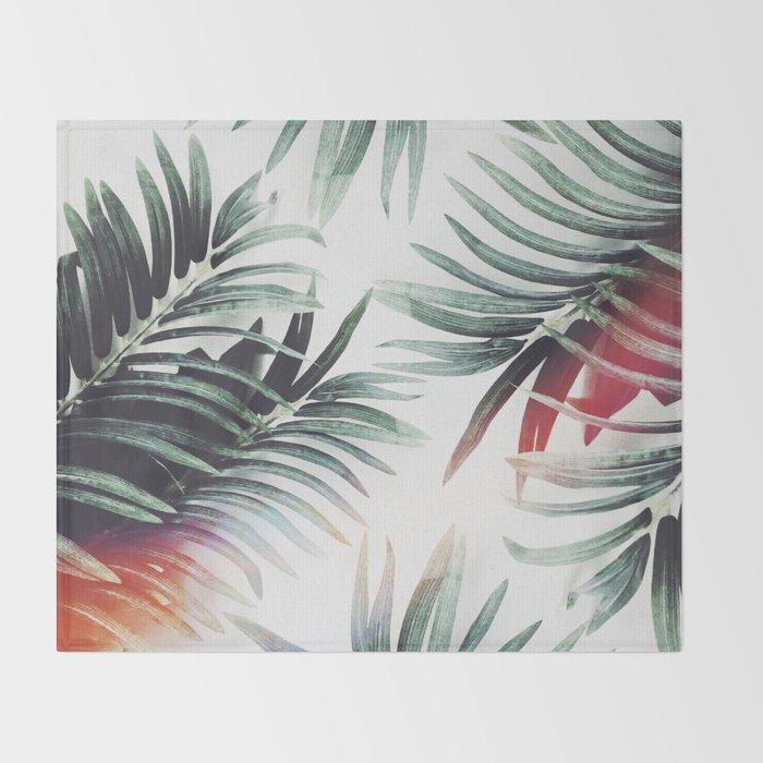 Vintage plants Throw Blanket
