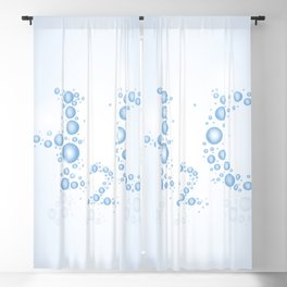 Water drops with background Blackout Curtain