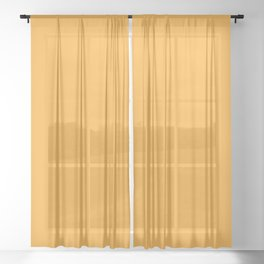Marigold - Solid Color Collection Sheer Curtain