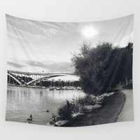stockholm Wall Tapestries featuring Stockholm 01 by Viviana Gonzalez