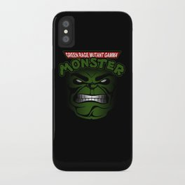 Green Rage Mutant Gamma Monster iPhone Case
