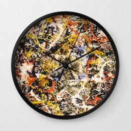 Jackson Pollock--- Convergence Wall Clock