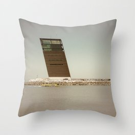 Oblique architecture Throw Pillow